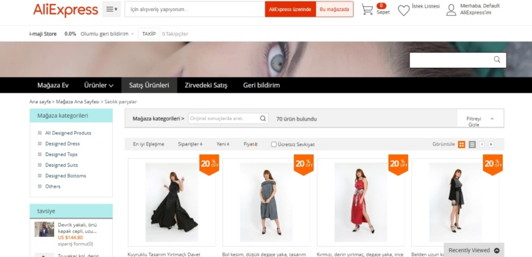 Aliexpress'te i-maji.com